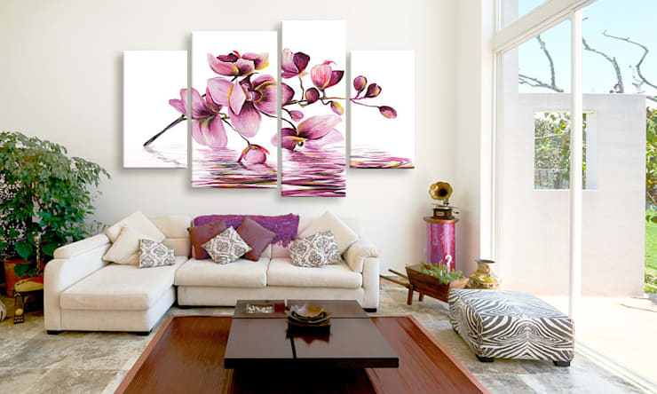 Orquídeas en el espejo de agua: Salones de estilo  de BIMAGO