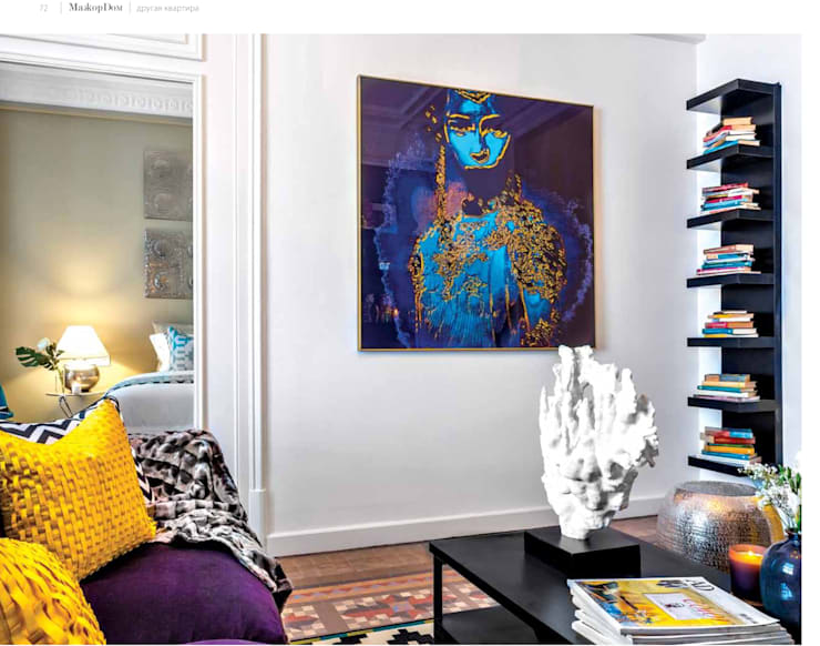 interior poster for Bohemian Chic decoration, Designer Anthony Chevallier: Гостиная в . Автор – antonio&marko/interior posters
