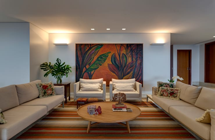 Salas de estilo  por Lage Caporali Arquitetas Associadas