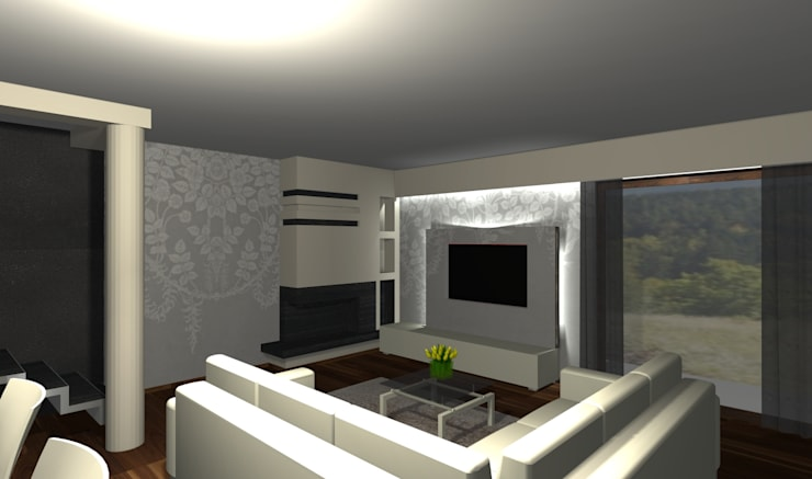 Salon: styl , w kategorii  zaprojektowany przez Ars Deko