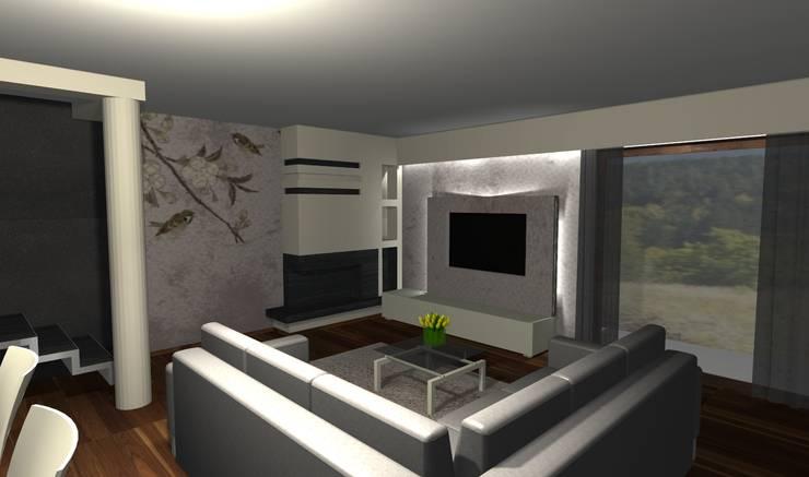 Salon: styl , w kategorii  zaprojektowany przez Ars Deko,