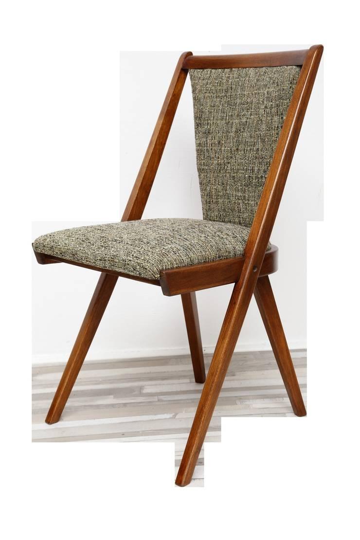 Krzesło zielone, lata 60.: styl , w kategorii Jadalnia zaprojektowany przez Lata 60-te,