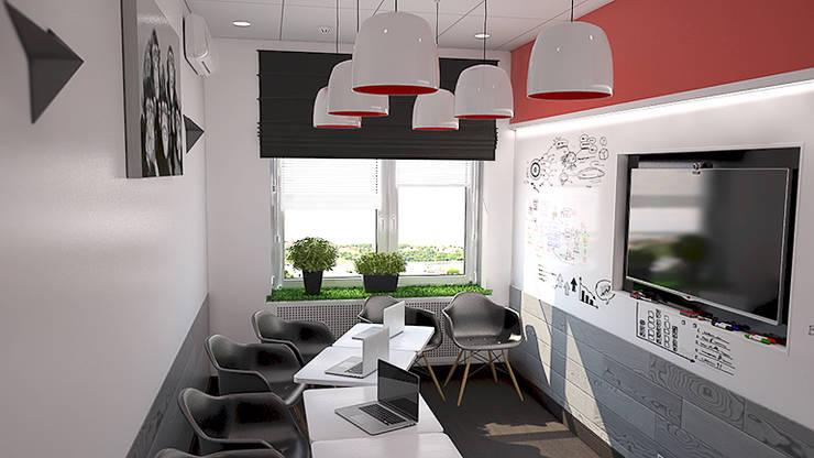 Магнитно-маркерные покрытия в офисе iFunny: Офисные помещения в . Автор – IdeasMarket