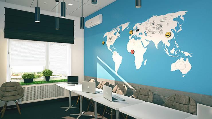 Магнитно-макерная карта в переговорной компании iFunny: Офисы и магазины в . Автор – IdeasMarket