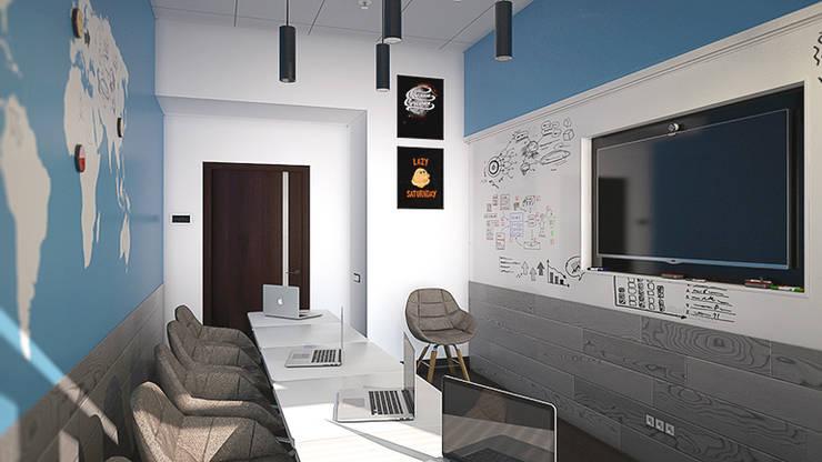 Магнитно-маркерные покрытия в переговорных компании iFunny: Офисные помещения в . Автор – IdeasMarket
