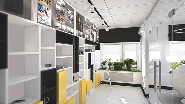 Минималистичный функциональный интерьер для компании iFunny: Офисные помещения в . Автор – IdeasMarket