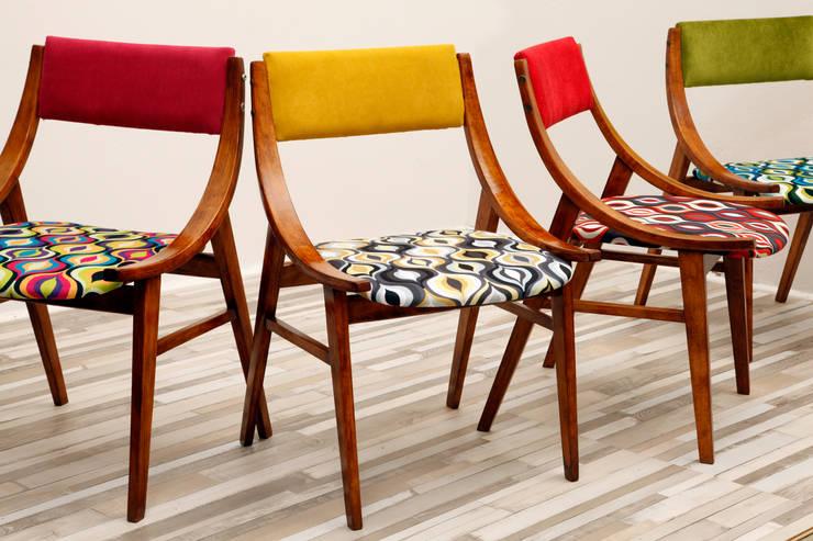 Krzesło Żółty Skoczek, lata 60.: styl , w kategorii Kuchnia zaprojektowany przez Lata 60-te