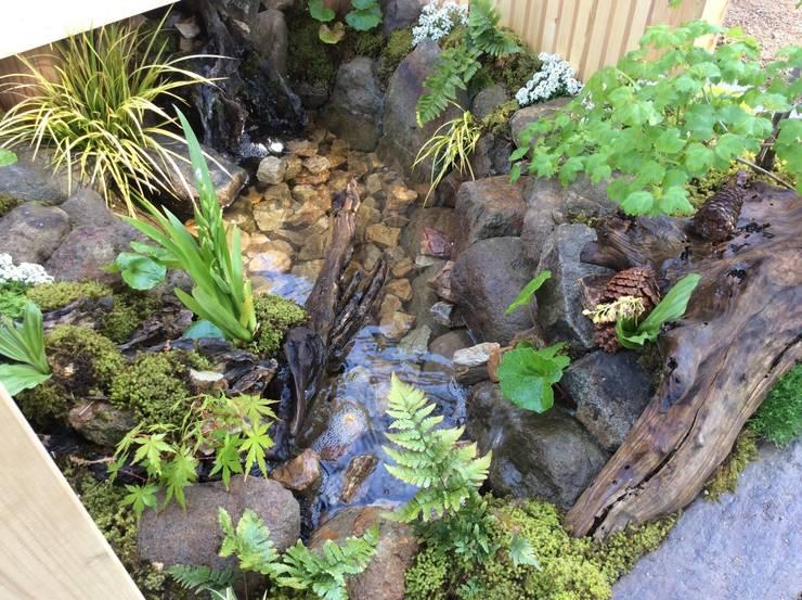 縁側から聞こえる水辺の音色: 株式会社 髙橋造園土木  Takahashi Landscape Construction.Co.,Ltdが手掛けた庭です。