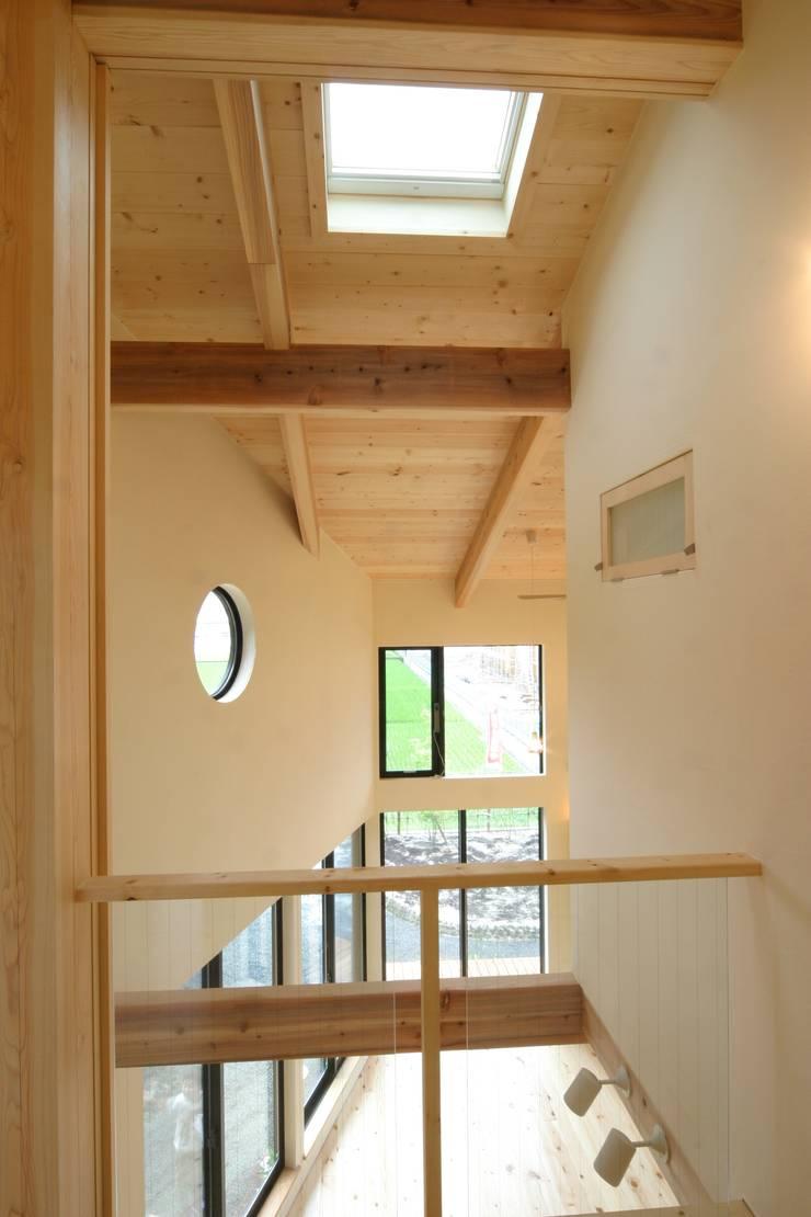 Salas / recibidores de estilo  por 上野貴建築研究所, Ecléctico