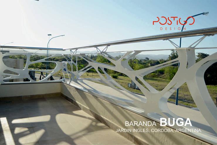 Baranda Buga: Casas de estilo  por Postigo design