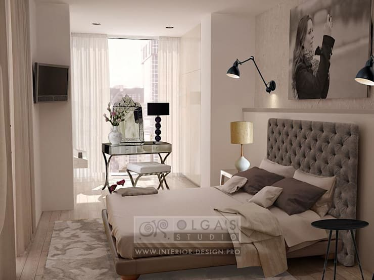 Один из вариантов интерьера спальни в квартире: Спальни в . Автор – Olga's Studio,