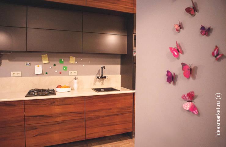 Магнитное покрытие на кухне: Кухни в . Автор – IdeasMarket