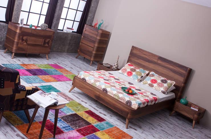 Mahir Mobilya – Retro Yatak Odası Takımları:  tarz Yatak Odası