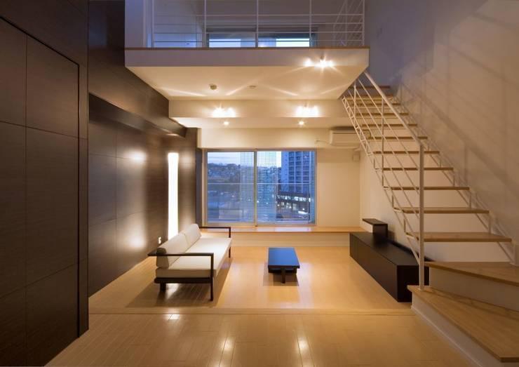 hinata: 笹野空間設計が手掛けたリビングです。