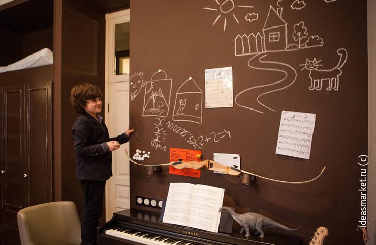 Магнитно-грифельное покрытие в комнате молодого человека: Детские комнаты в . Автор – IdeasMarket