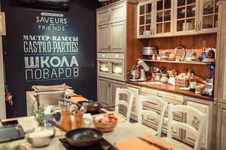 Грифельная отлично вписывается не только в современные интерьеры: Ресторации в . Автор – IdeasMarket