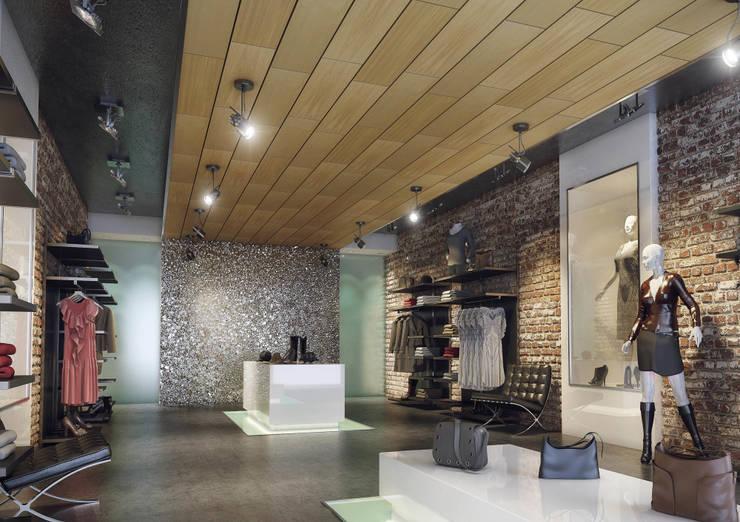 Ceilings:  Winkelruimten door Armstrong Plafonds, Modern