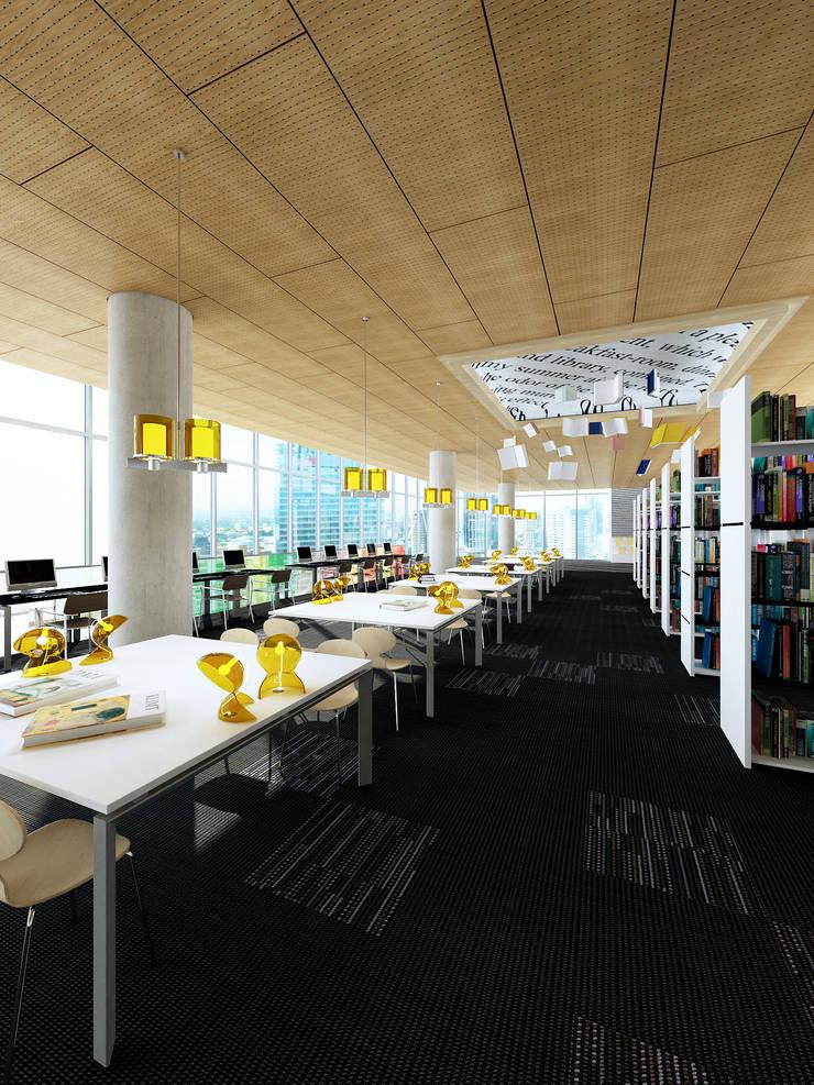Ceilings:  Kantoor- & winkelruimten door Armstrong Plafonds, Modern