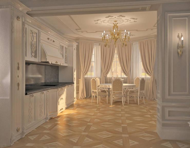 Лёгкость классики: Столовые комнаты в . Автор – DARIA_MEZENTSEVA