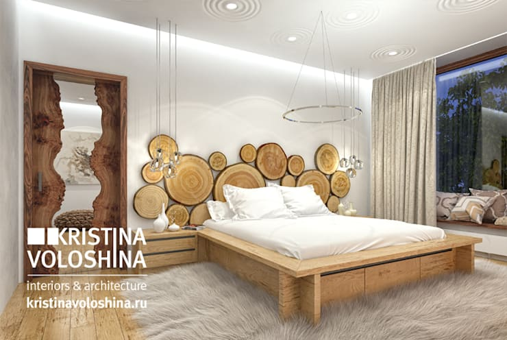 rustic Bedroom by kristinavoloshina