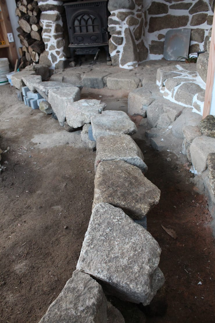 작업실 증축 화강암 바닥작업: 다우리공방의
