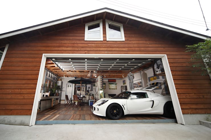 Garage/shed by J-STYLE GARAGE Co.,Ltd., Country