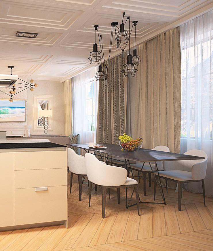 Изящный, спокойный, упорядоченный… : Гостиная в . Автор – DARIA_MEZENTSEVA
