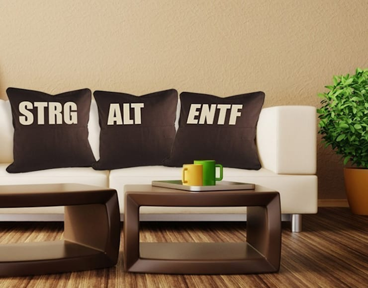 Deko-Kissen-Set STRG ALT ENTF:  Wände von Klebefieber.de - Apalis GmbH