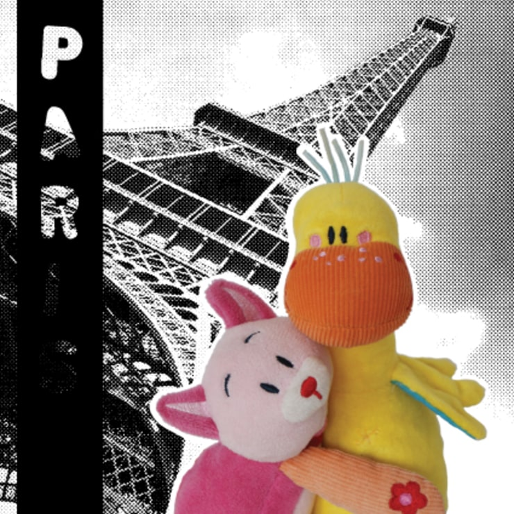Lizzy & Hoppe romanticly enjoying Paris! de allesPiek Moderno Textil Ámbar/Dorado
