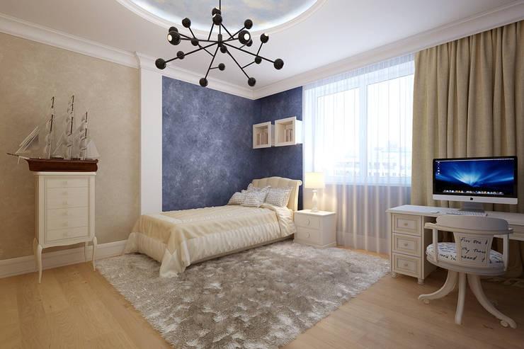 Dormitorios infantiles de estilo  por Студия интерьера 'SENSE'