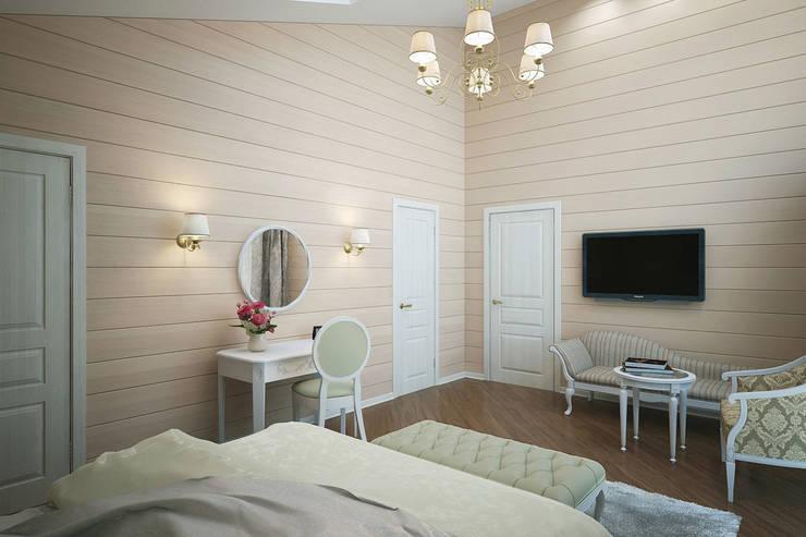 Интерьер дома в поселке <q>Особый Статус</q>: Спальни в . Автор – Студия интерьера 'SENSE'