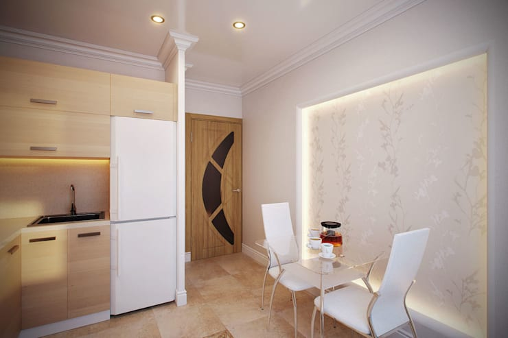 Интерьер квартиры с намеком на фэн-шуй: Кухни в . Автор – Студия интерьера 'SENSE', Эклектичный