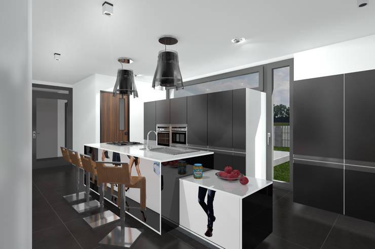 Dom Passive_Luxury_1: styl , w kategorii Kuchnia zaprojektowany przez ABC Pracownia Projektowa Bożena Nosiła,Minimalistyczny
