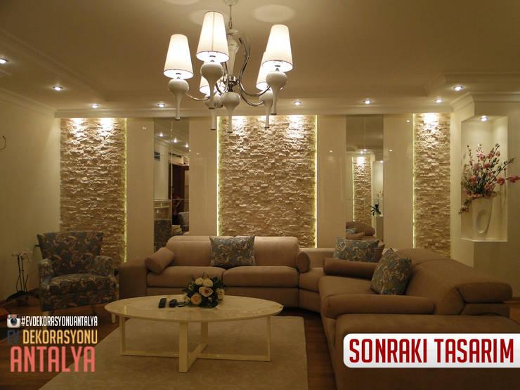 Ev Dekorasyonu Antalya – A'dan Z'ye Salon yenilememiz: akdeniz tarzı tarz Oturma Odası