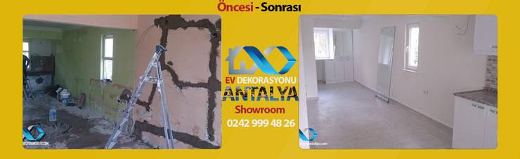 Ev Dekorasyonu Antalya – 1+0 Dairemizin A'dan Z'ye Tadilat Çalışması ÖNCESİ-SONRASI:  tarz İç Dekorasyon