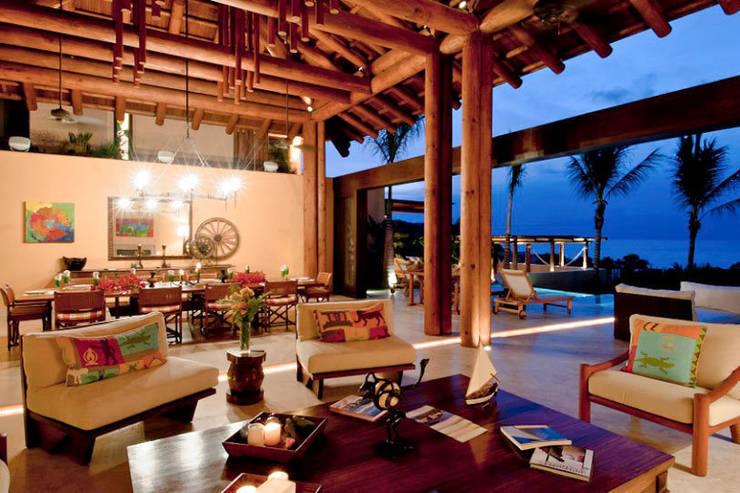 Salas / recibidores de estilo  por BR  ARQUITECTOS