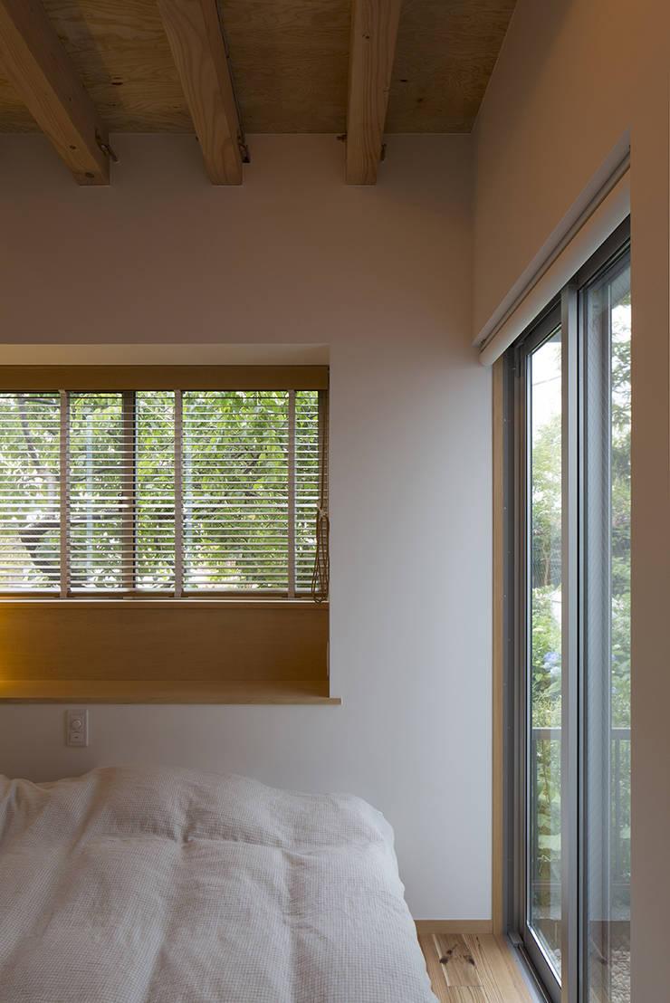 西庇の家: 株式会社建楽設計が手掛けた寝室です。,