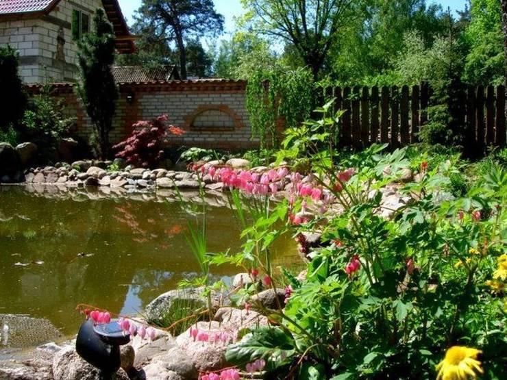 Serduszka okazała nad oczkiem wodnym: styl , w kategorii  zaprojektowany przez Garden Ekspert Studio Architektury Krajobrazu