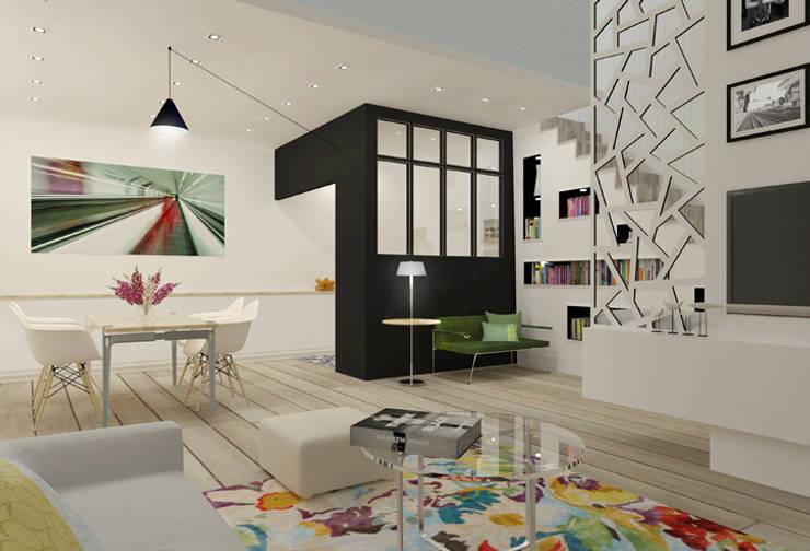 Appartement 150m2: Cuisine de style  par Silvia Gianni