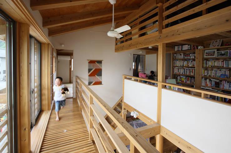 キャットウォーク: 芦田成人建築設計事務所が手掛けたテラス・ベランダです。,オリジナル