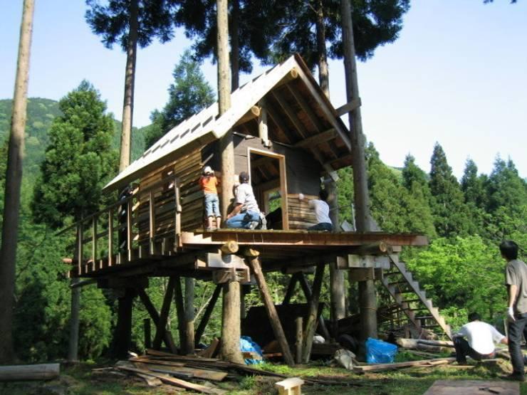 ツリーハウス: 迫田昌治建築設計事務所が手掛けたガレージです。,カントリー