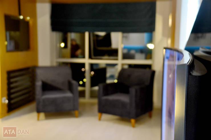 ROAS Mimarlık – Curved TV Detayı - Salon:  tarz Oturma Odası