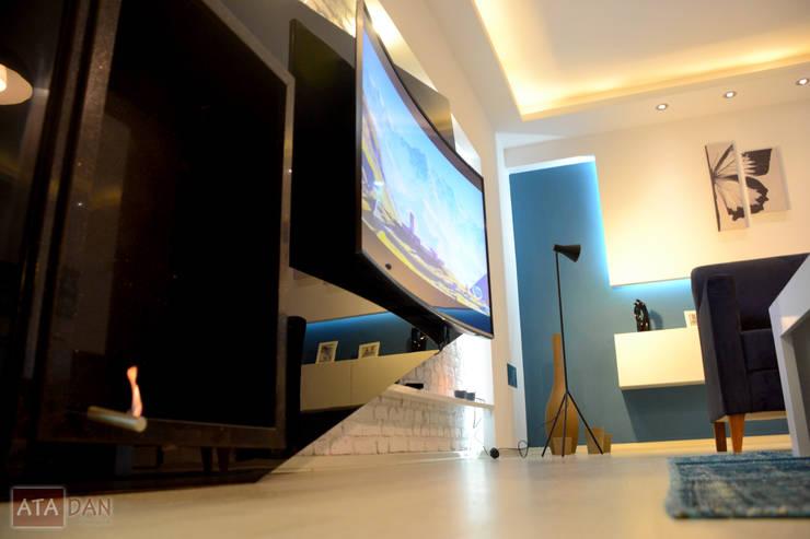 ROAS Mimarlık – Tv Ünite Detayı - Salon:  tarz Oturma Odası