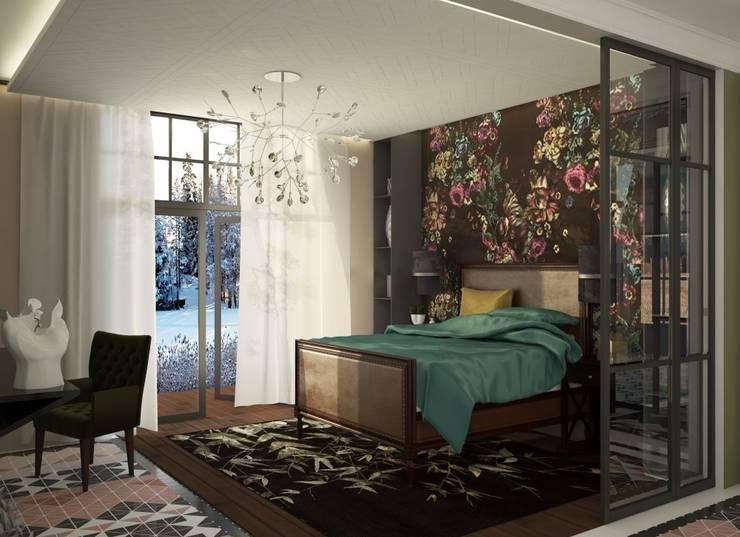 1 этаж. Спальня: Спальни в . Автор – WhiteRoom