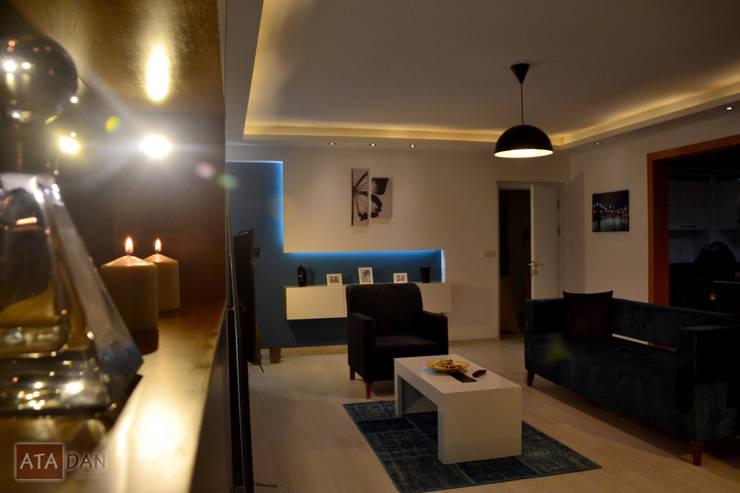 ROAS Mimarlık – Özel Köşe Niş Detayı - Salon:  tarz Oturma Odası