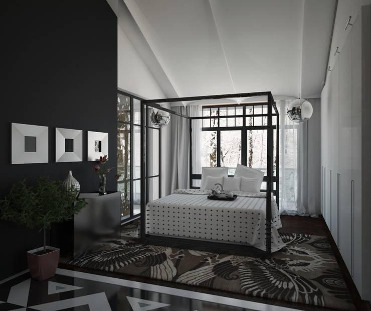 2 этаж. Спальня: Спальни в . Автор – WhiteRoom