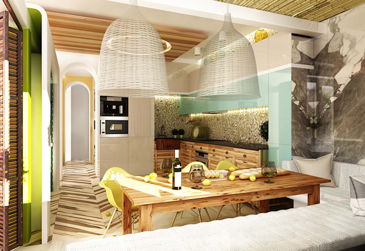 Kitchen by WhiteRoom, Mediterranean