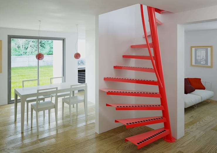 1m2 by EeStairs® - Ruimtebesparende trap: moderne Gang, hal & trappenhuis door EeStairs | Stairs and balustrades