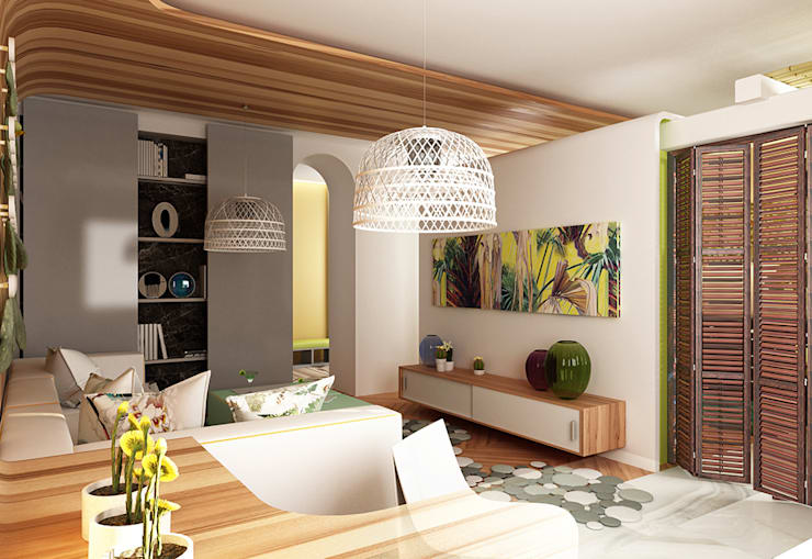 Living room by WhiteRoom, Mediterranean