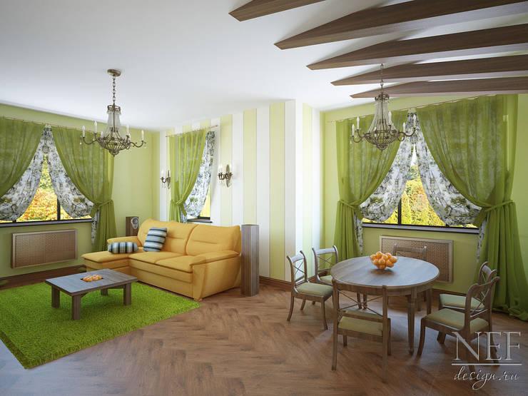Коттедж: Гостиная в . Автор – Юлия Паршихина